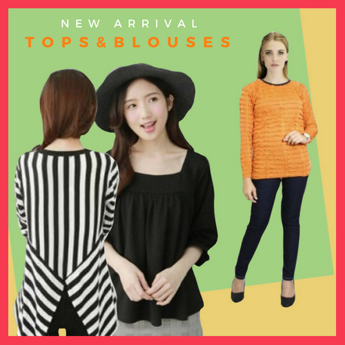 YAS!! NEW ARRIVAL~ MODEL TOPS and BLOUSE for WOMEN Deals for only Rp50.000 instead of Rp50.000