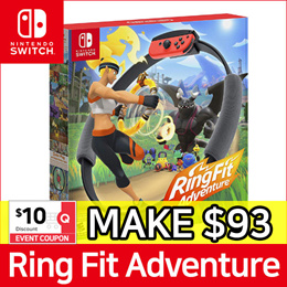 [Ready Stock] Nintendo Switch Ring Fit Adventure Game Title + Ring-Con + Leg Strap Set