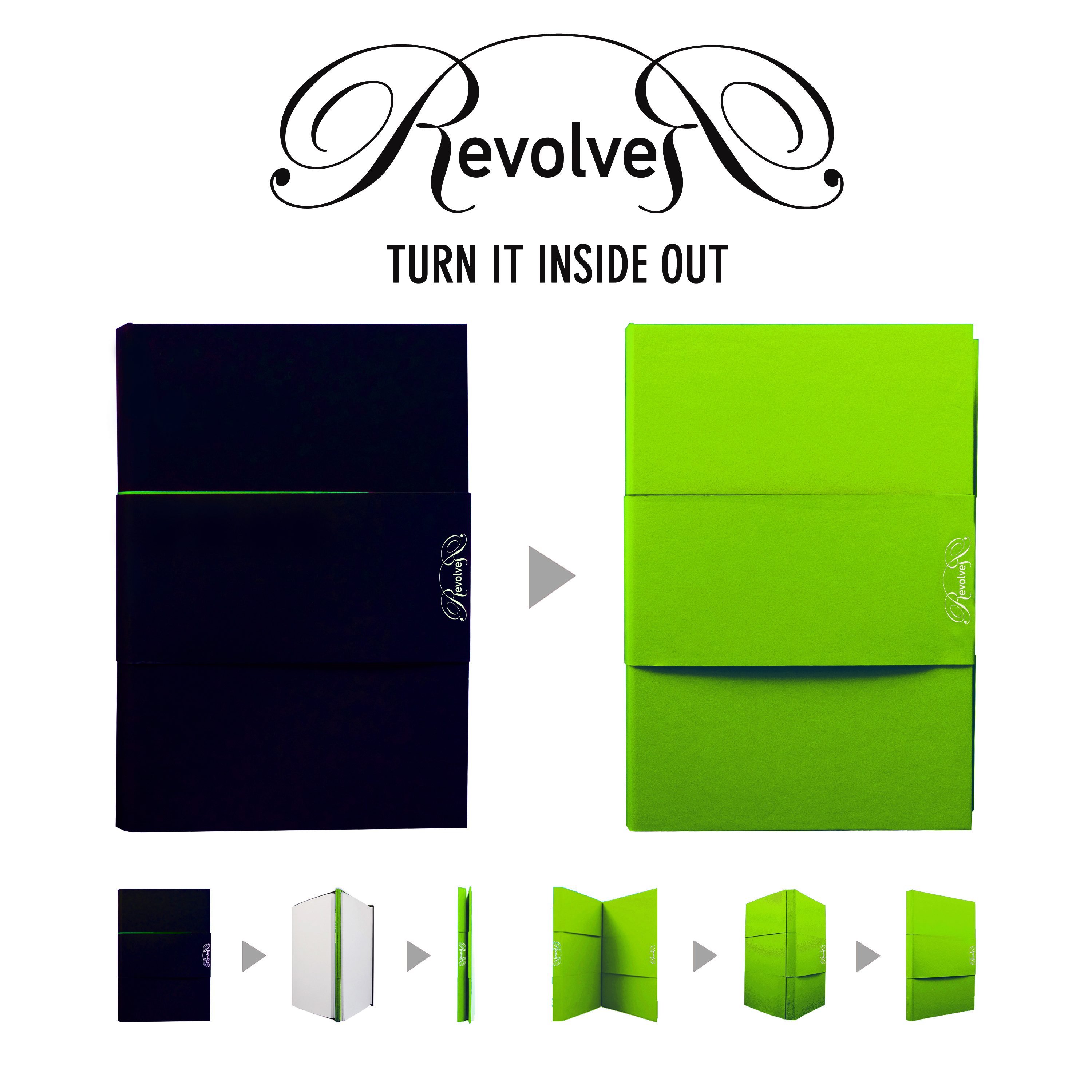 d05b737037 Qoo10 - Revolver Notebook  2 Journals in 1!The Turn-it-inside-out ...