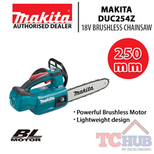 Makita DUC254Z 18V Brushless Chainsaw 250mm (Bare Tool) with Powerful Brushless Motor.