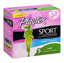Edgewell-Playtex Playtex Tampons Sport Super Unscented 36 Count (6 Pack)