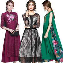 【PREMIUM】2018 CNY NEW FASHION  APPARELS DRESS TOP SUIT PLUS SIZE Cheongsam European British style