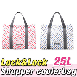 ★Lock n Lock Shopper Cooler Bag 25L★ Famous brand in Korea / slim / cool / warm / thermal bag / camping / pouch /Portable ice box car coolerbag lunch organizer travel