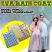 eva rain coat / jas hujan Ponco Warna Transparant Murah