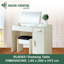 [RayLine Trading] RL6D621 Dressing Table with Flip up Mirror + Stool | DELIVERY AND INSTALLATION