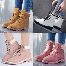 2017 New Women Fashion Boots Ladies Winter Boots Leather Shoes Waterproof Non-slip