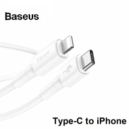 Baseus Mini Type-C to iPhone Lightning 18W PD Fast Charger Charging Cable