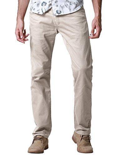 08207df3ee Qoo10 - Match Mens Regular Fit Straight Leg Jeans(36,8100 Khaki ...