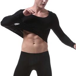 sale Men Thermal Underwear Winter Long Sleeve Undershirt T Shirt Super Thin Tops Seamless Tee Long J