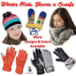 MEN AND LADIES WINTER GLOVES/ TOUCH SCREEN SENSITIVE / WIND PROOF / SPLASH PROOF/ HATS/ SCARFS