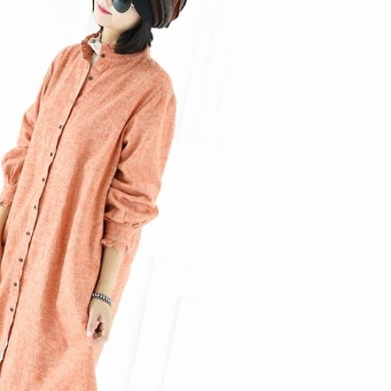 ミジ、ショッピングモール波オープンワンピース シフォン/レースのワンピース/ 韓国ファッション