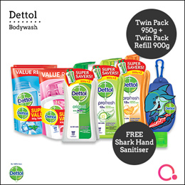 [RB]【Total 3 items!】Dettol body wash 950ml pump + 900ml refill x 2 | Stocks from Singapore