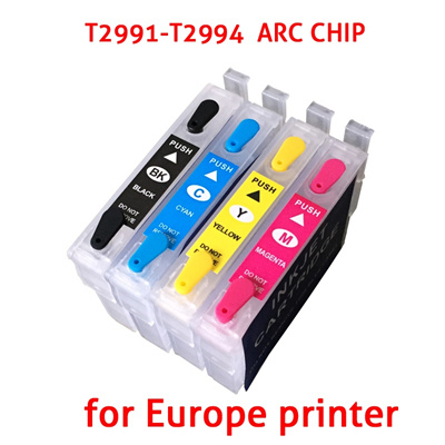 4 PCS T2991 Refillable Ink Cartridge with Auto Reset Chips For Epson  XP-235/432/245/247/332/335/342/