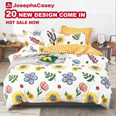 [APRIL New design] 800 TC High Quality Microfiber bedsheet [Single/Super single/Queen/King] For 4