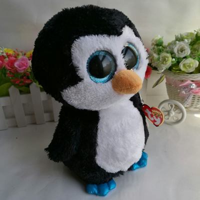 892e0fba2f5 factory Waddles penguin TY BEANIE BOOS 10 25CM BIG EYE Plush Toys Stuffed  animals soft toy