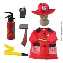 COOL 1Set Kid Child Halloween Cosplay Firefighter Fireman Costume Free Size2009