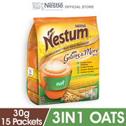 NESTLE NESTUM Grains More 3in1 Oats 15 Packets 30g Each