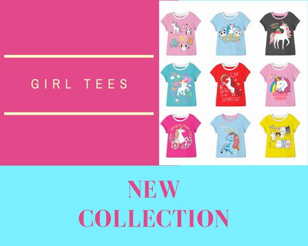 New Arrival Kaos Anak Perempuan Lengan Pendek 1 - 10 Tahun