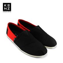 Sepatu Pria Casual Slip On | Kenz Sloppy - Black Red