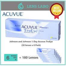 [Free Shipping] Johnson 1-Day Acuvue TruEye BC8.50mm/9.00mm PWR -2.25~-8.00 (30 lenses) x 6