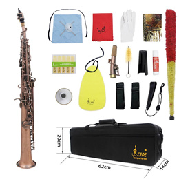 LADE WSS-899 Professional Red Bronze Straight Bb Soprano Saxophone