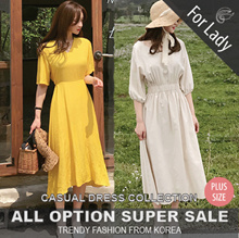 ♥21th Update ♥Korean Style♥ Linen / Casual Dress / LOOSE Fit  / Basic / Plus Size