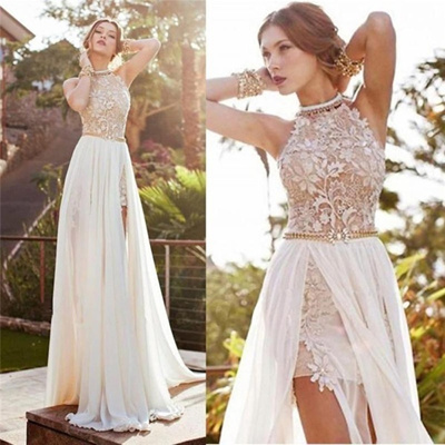 c6f5afa42a46a Long Chiffon Lace Evening Formal Party Ball Gown Prom Bridesmaid Dress