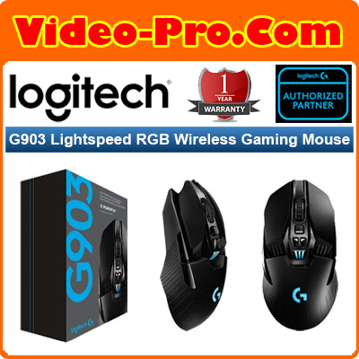 LogitechLogitech G903 Lightspeed RGB Wireless Gaming Mouse with POWERPLAY  Wireless Charging Compatibility