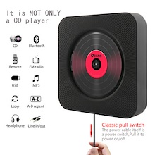 【HOT!Today only !】【Coupon price+ Free shipping】CD Player Wall Mountable Bluetooth Portable Home Audio Boombox with Remote Control FM Radio