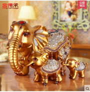 Lucky resin elephant ornaments modern home decoration cabinet entrance feng shui crafts ornaments