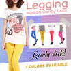 【Local Seller】【Ready Stock】 Korean Candy Color Legging ✫Free Size✫ ★★ Buy 2 in 1 Shipping ★★ ♥ Fast delivery ♥