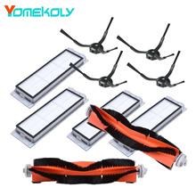 for Xiaomi MI Roborock Vacuum Cleaner main brush washable HEPA filter black side brush Robot Replace