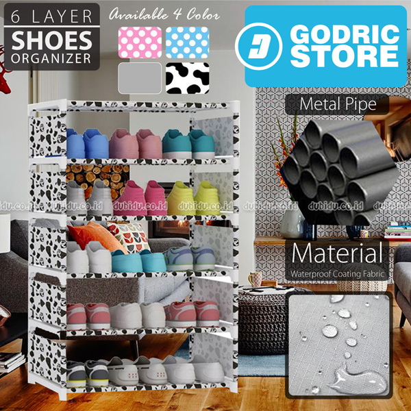 Rak Sepatu SIMPLY MODERN DIY 6 Layer 5 Susun Lemari 85 x 60 x 30 CM Deals for only Rp115.000 instead of Rp115.000