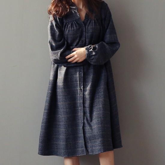 ビナインロペスチェックワンピース 綿ワンピース/ 韓国ファッション