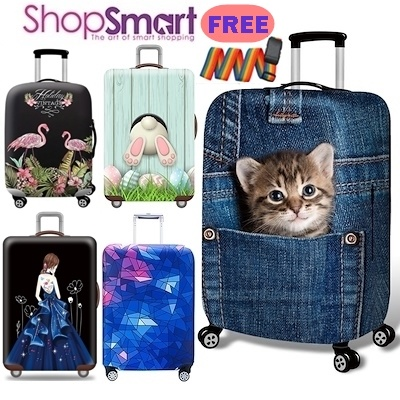 *BUY 2 FREE 1 GIFT*Travel 3D Luggage Protector Cover|Elastic Suitcase Bag Cover**MANY DESIGN** Deals for only S$50 instead of S$0