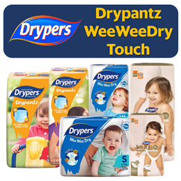 【 🏆 Drypers Best Seller 🏆 】 Wee Wee Dry / Drypantz / Touch - Authorised SG Reseller