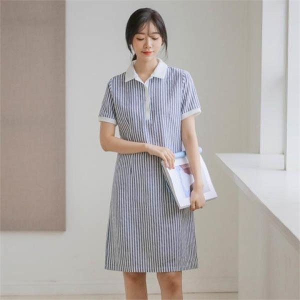 ジャストウォンナチュラル・くれるかカラワンピースnew プリントワンピース/ワンピース/韓国ファッション