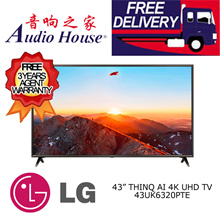 LG 43UK6320PTE 43 ThinQ AI 4K UHD LED TV ***3 YEAR LG WARRANTY***