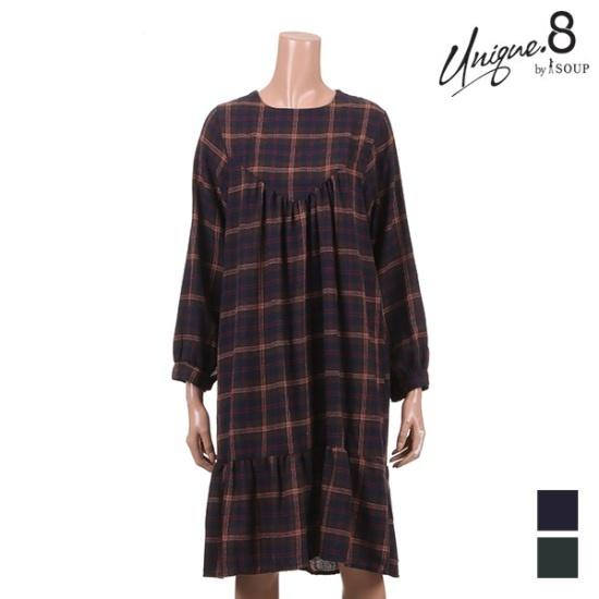 森SOUPバーディーバーディーチェックワンピースSTIOP18 面ワンピース/ 韓国ファッション