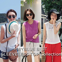 [mayblue] ★Free Shipping★💖5TYPE BEST SLEEVELESS TOP Collection★