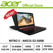 Acer Nitro 5 AN515-52-56RB Gaming Laptop - 8th Generation Core i5+ Processor with GTX 1050 Graphics