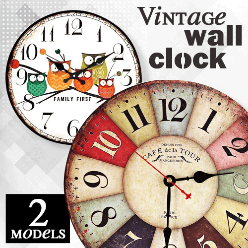 Jam Dinding Bulat Vintage 30 CM Deals for only Rp56.000 instead of Rp56.000