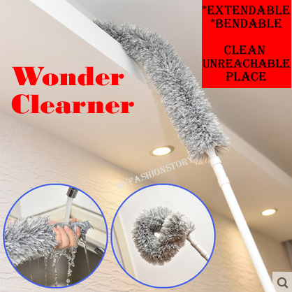 Wonder Cleaner Bendable Extendable Fluffy Feather Duster Long Handled Duster Interior Roof Fan Deals for only S$10 instead of S$0
