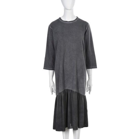 シエロルナグリーンウォッシングの下のだんラッフルディテール7部ワンピースSE1TSF502 面ワンピース/ 韓国ファッション