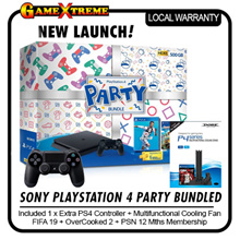 ★NEW LAUNCH★ SONY Playstation 4 PARTY Bundle. FIFA 2019 + Overcooked II + Additional Controller + Cooler Stand worth $39.90. Local Stocks and 27 Months Warranty!