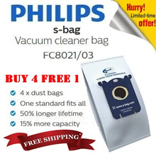 ★BUY 4 FREE 1★FITS MOST PHILIPS N ELECTROLUX★Philips S-bag Disposable Dust Bag Classic Long Vacuum