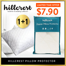 [Buy 1 Free 1} HillCrest Pillow Protector Thick Padding Absorb Water Anti dustmite hypoallergenic