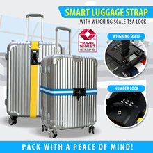 TSA Luggage Strap with Number Lock and weighing scale Secure up to 32inch luggage belt with lock