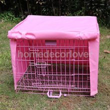 18&quot x12&quot x14&quot  Small 1 Door Pet Dog Crate Cage Kennel Cover Windproof Pink