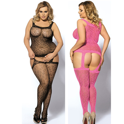 dacf7dfda83 HW3029 Sexy Lingerie Bodystocking Hot Body Crotchless Underwear Plus Size  (Black